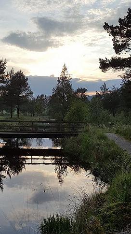 Bro mellom hull 6 og 7 på preikestolen golfklubb