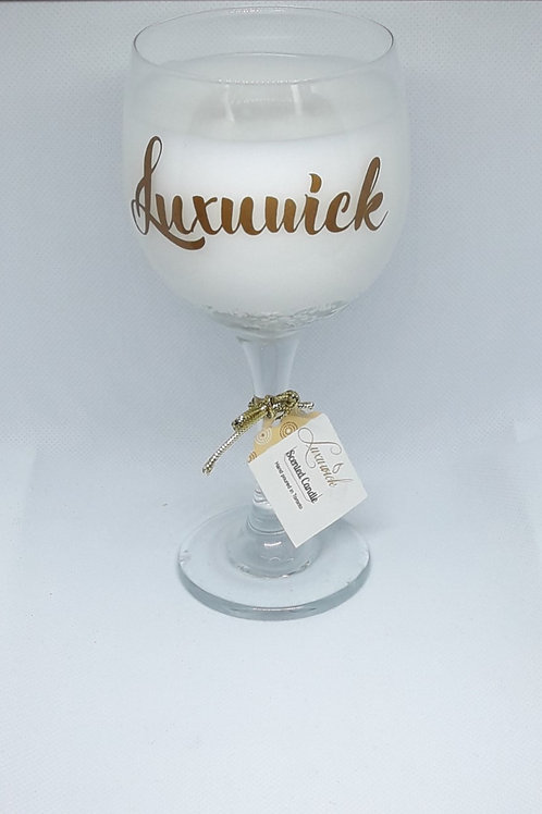 Hazelnut Coffee Glass Candle