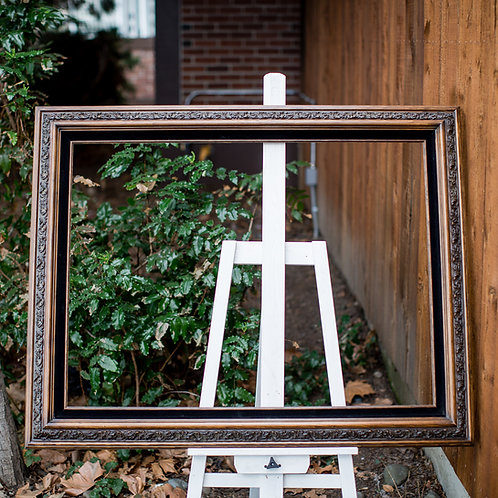 30x40 wood and black frame
