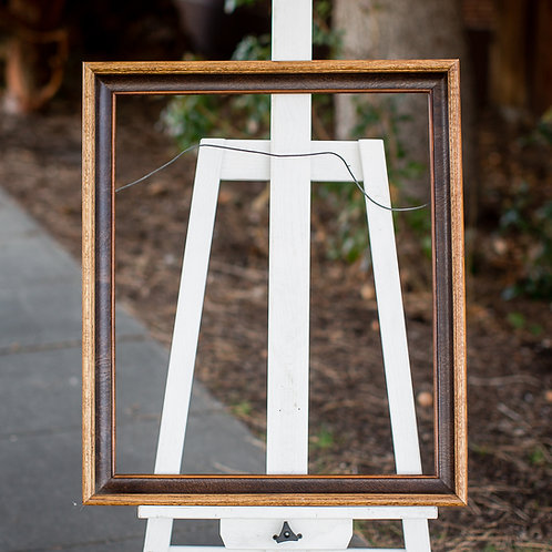 20x24 two toned brown frame