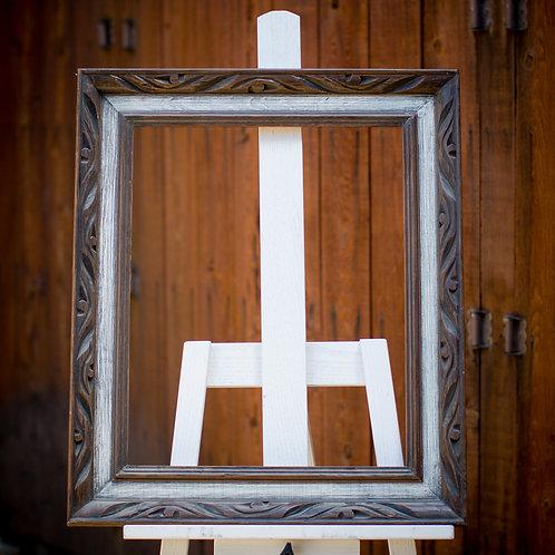16x20 rustic wood frame w/white wash