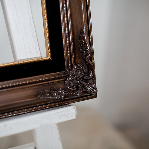 16x20 Ornate Oak frame with black and gold