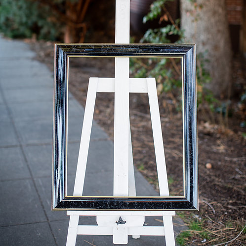 20x24 black frame with marble finish