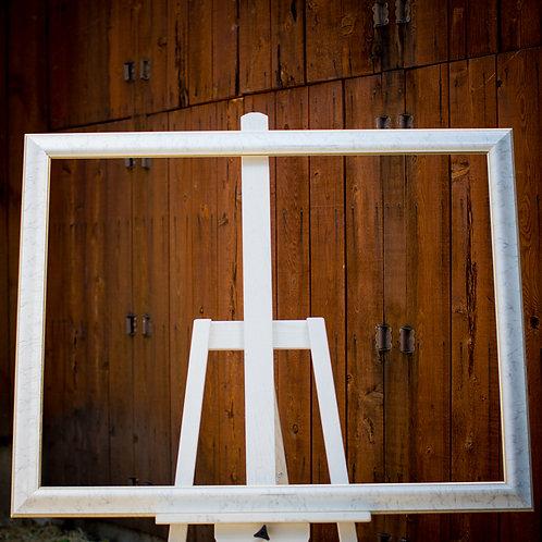 30x40 white frame