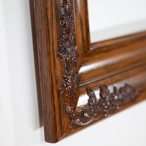 16x20 Dark Oak Frame with ornate detail