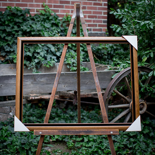 30x40 wood frame with black