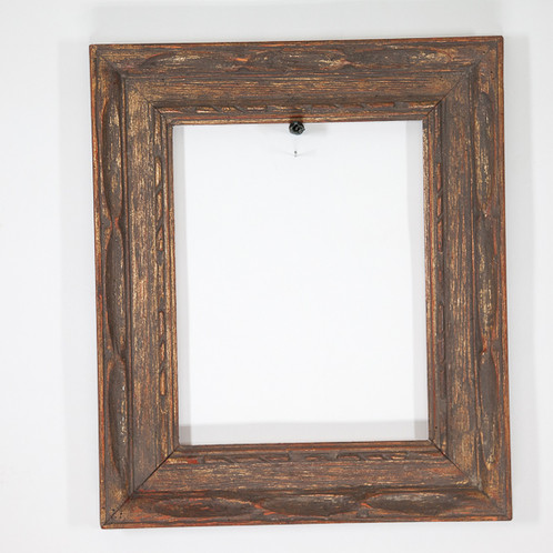 11x14 Brown & Gold Rectangle Rustic Frame