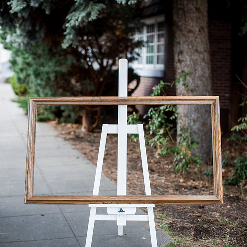 26x50 oak frame