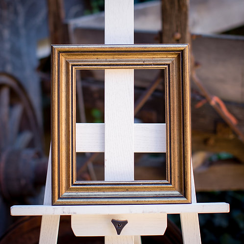 "8 x 9.75"" frame with gold leafing"