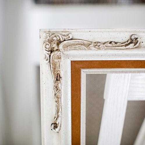 16x20 cream frame with camel felt inlay