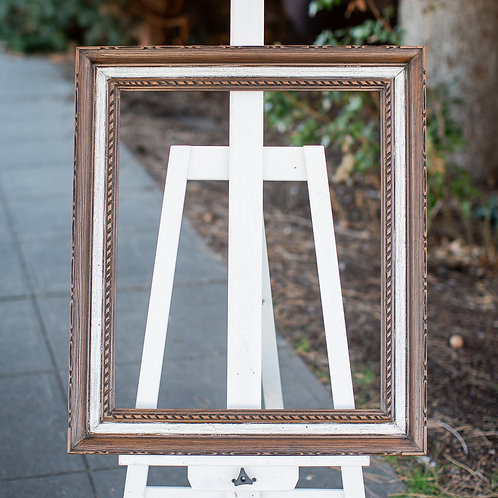 20x24 brown and white frame