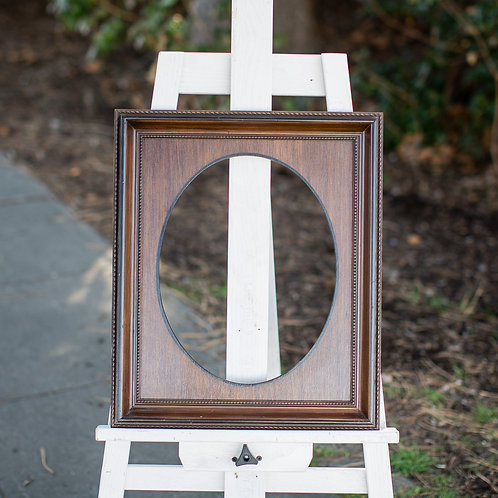 11x14 wood frame with oval inlay