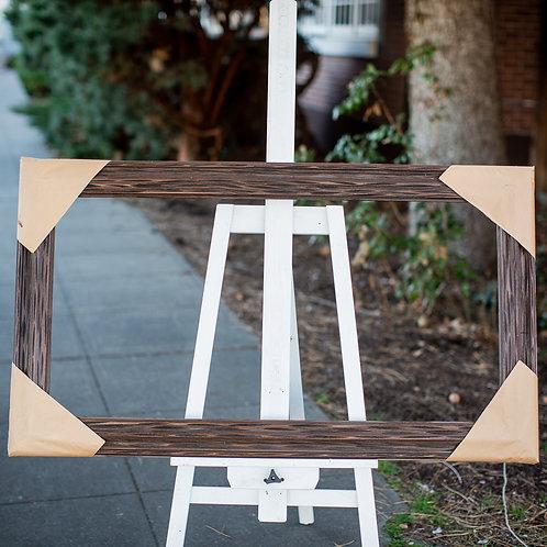 20x40 carved wood frame