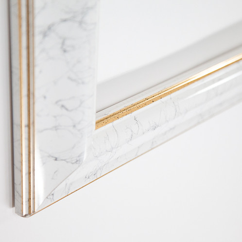 30x40 White & Grey, gold lining Rectangle Contemporary Frame with a ...