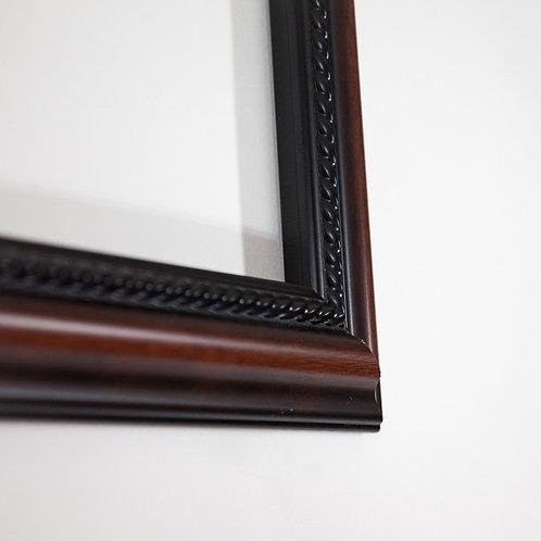 9.5x30 Brown & Black Frame