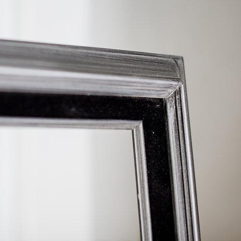 30x40 silver & black frame