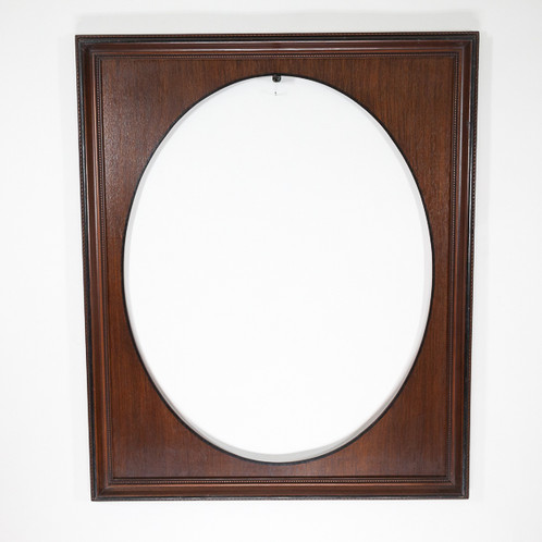 24x30 Brown & Black Spandral Oval Inlay Ornate Frame with a Solid ...