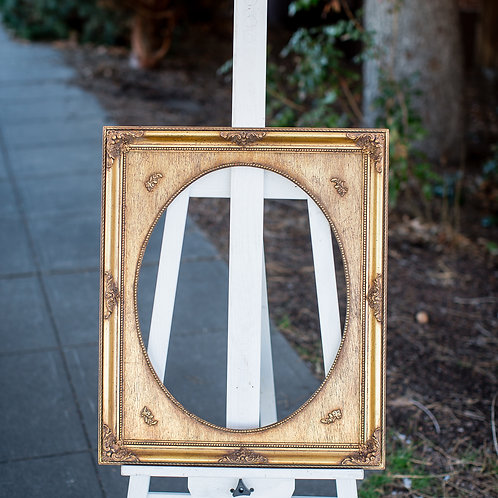 16x20 ornate gold with oval inlay