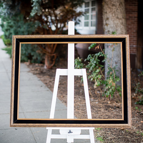 30x40 brown, black and gold frame