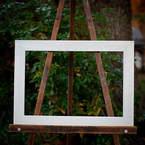 16x24 modern white frame