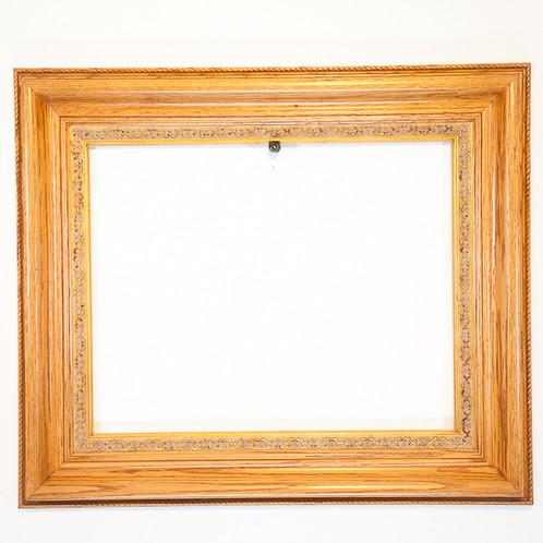 16x20 Solid Oak Rectangle Ornate Step Oak Frame