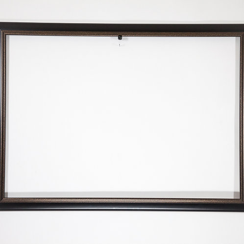 36x25 Black & Bronze Rectangle Contemporary Frame and a Matte Finish