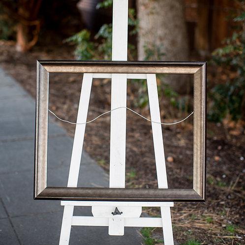 19x24 shiny brown frame