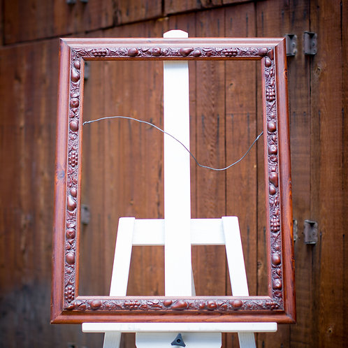 18x24 cherry frame with carved fruit