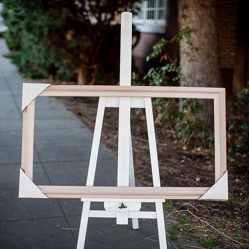20x40 white washed oak frame