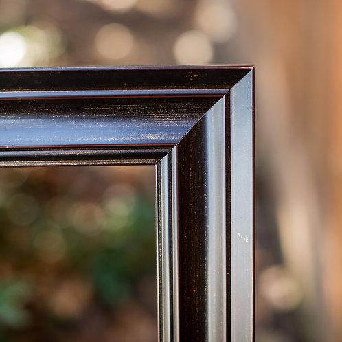 24x30 dark brown frame