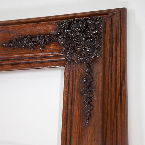 24x30 solid oak ornate frame