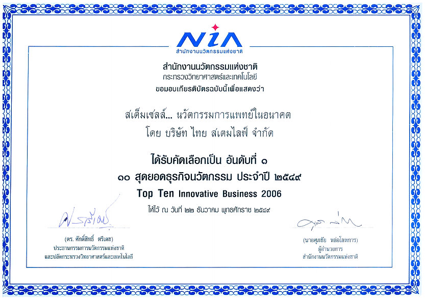 NIA Innovative Bbusiness 2006 Award