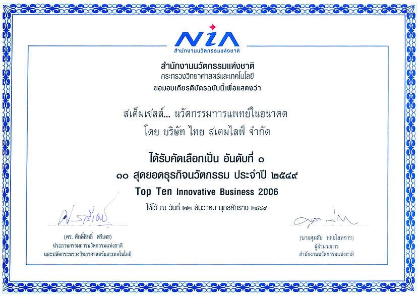 NIA Innovative Bbusiness 2006 Award