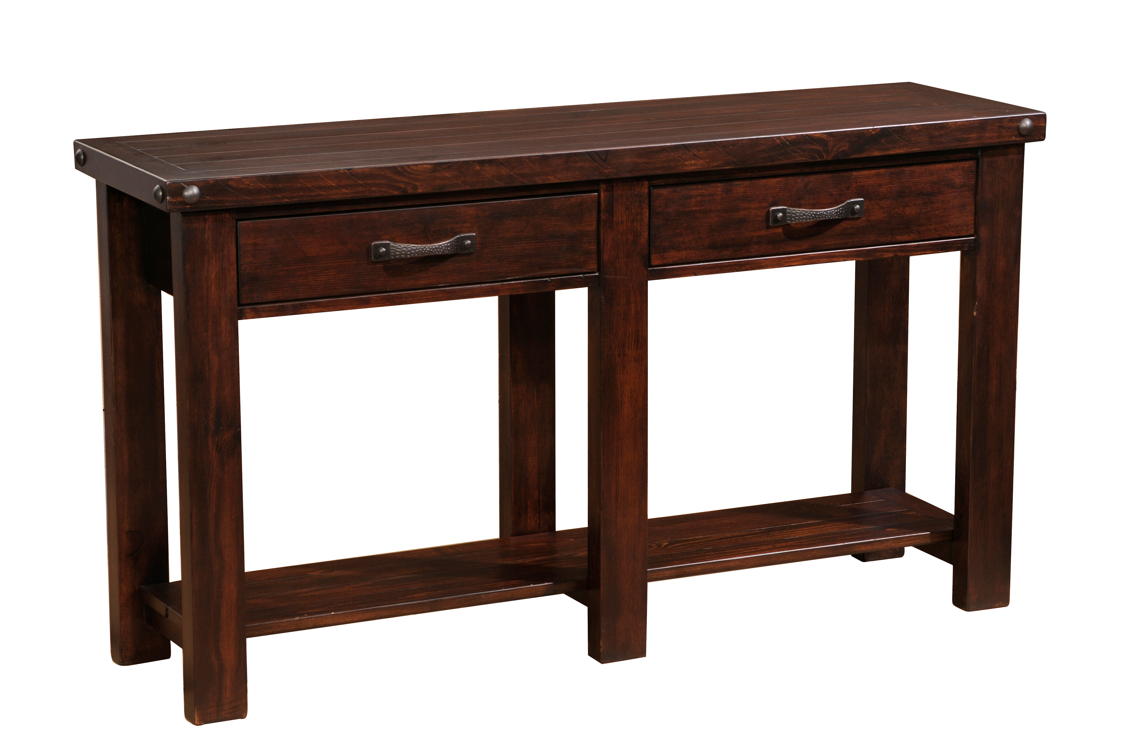 Kelly barn home cabin furnishings united states 54l two 54l two drawer console table geotapseo Image collections