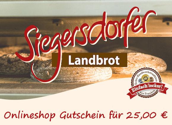 Siegersdorfer 25 Euro Gutschein