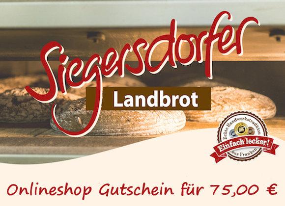 Siegersdorfer 75 Euro Gutschein