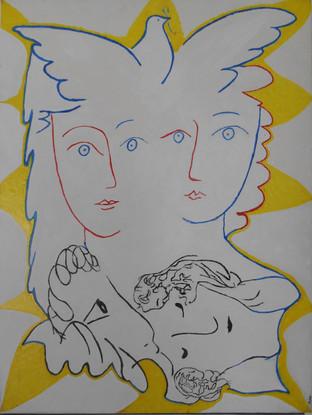 Nido picasiano_  Picaso-Nest 60x80 Acryl.jpg