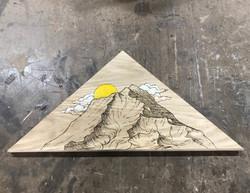 Mt. Shasta - Woodburning