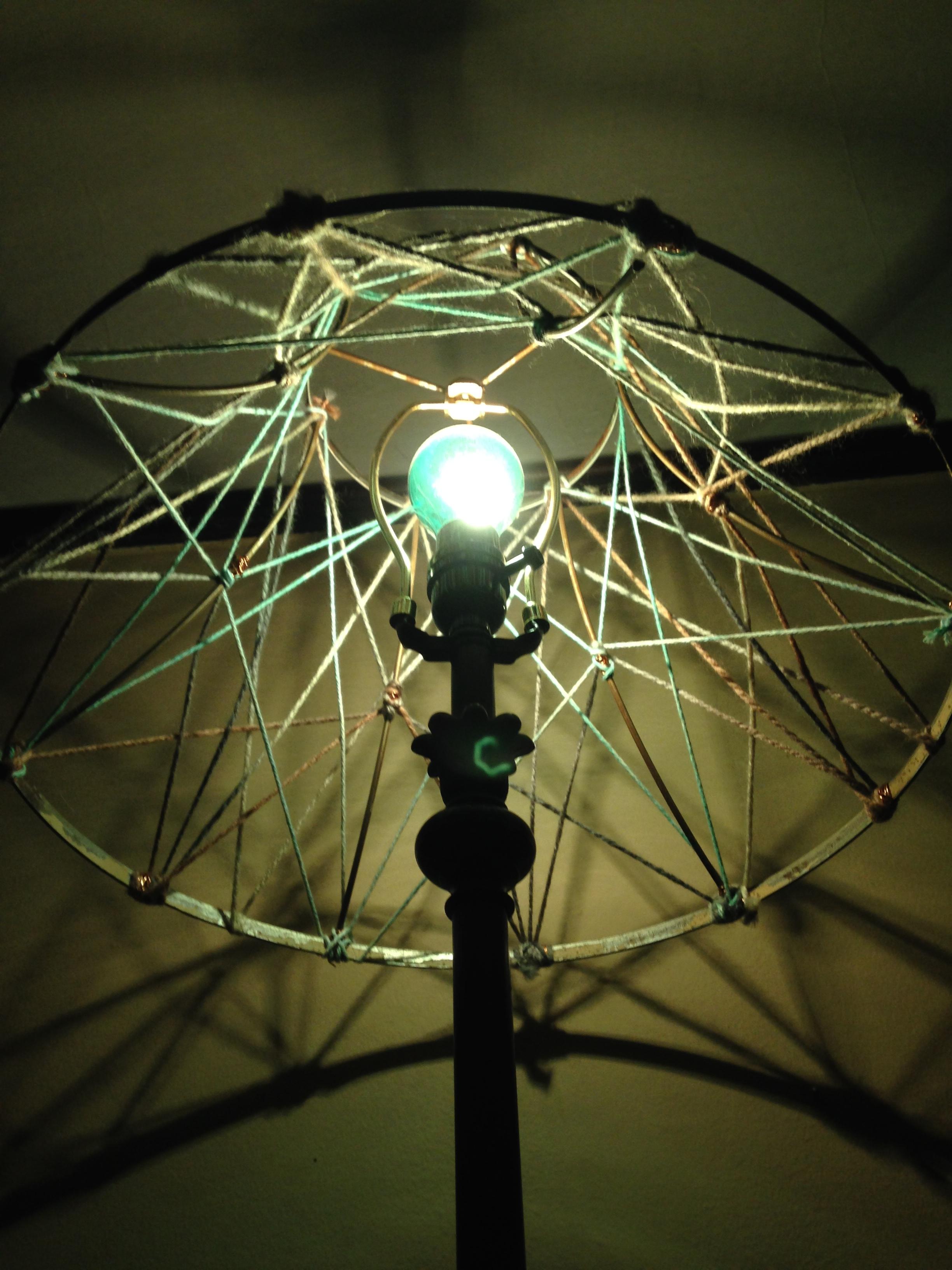 string art lampshade