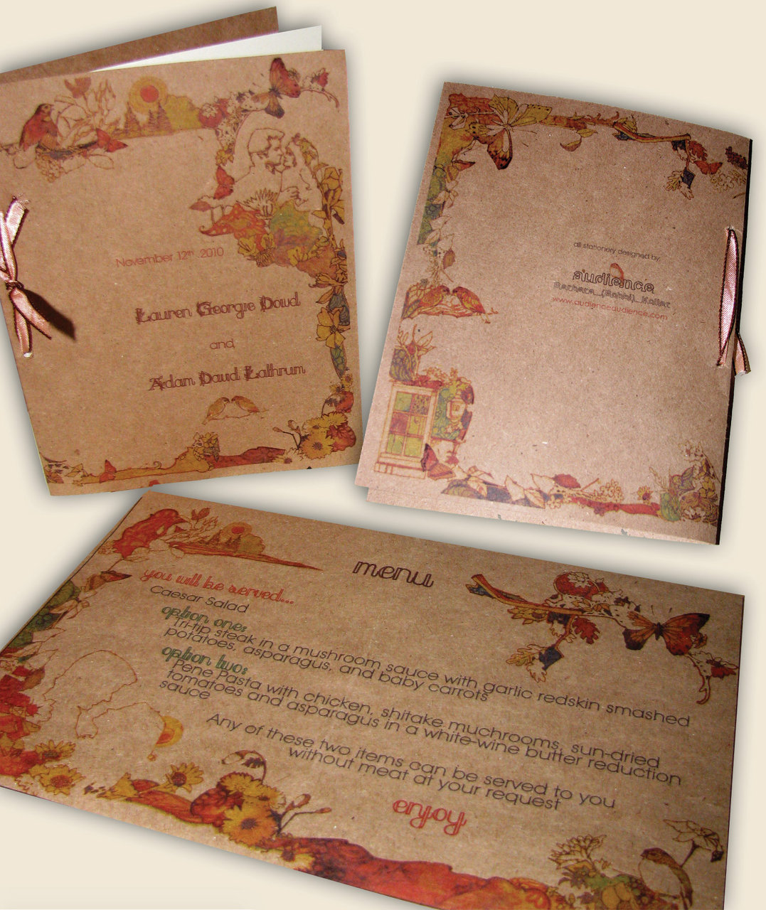 Wedding Program and Menu