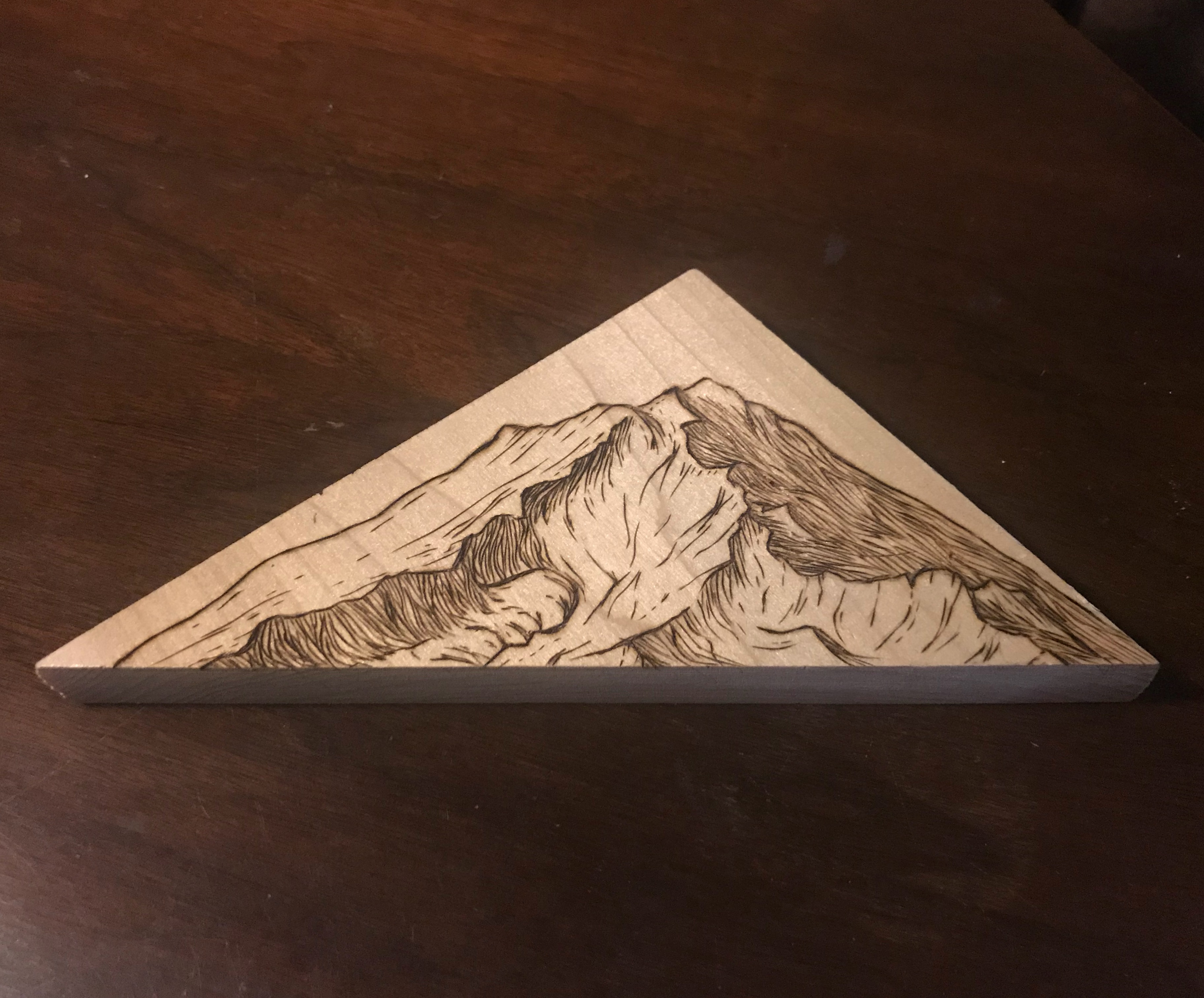 Mt. Shasta woodburning