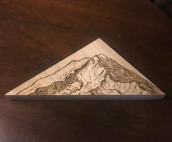 Mt. Shasta woodburning