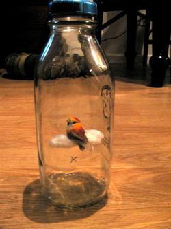 floating on a cloud bird miniature