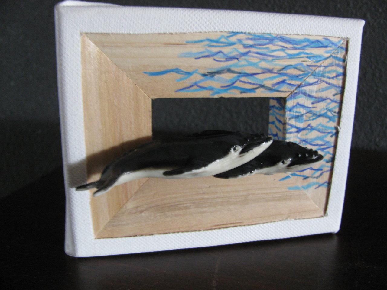 grey whales miniature frame