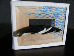 grey whales miniature frame