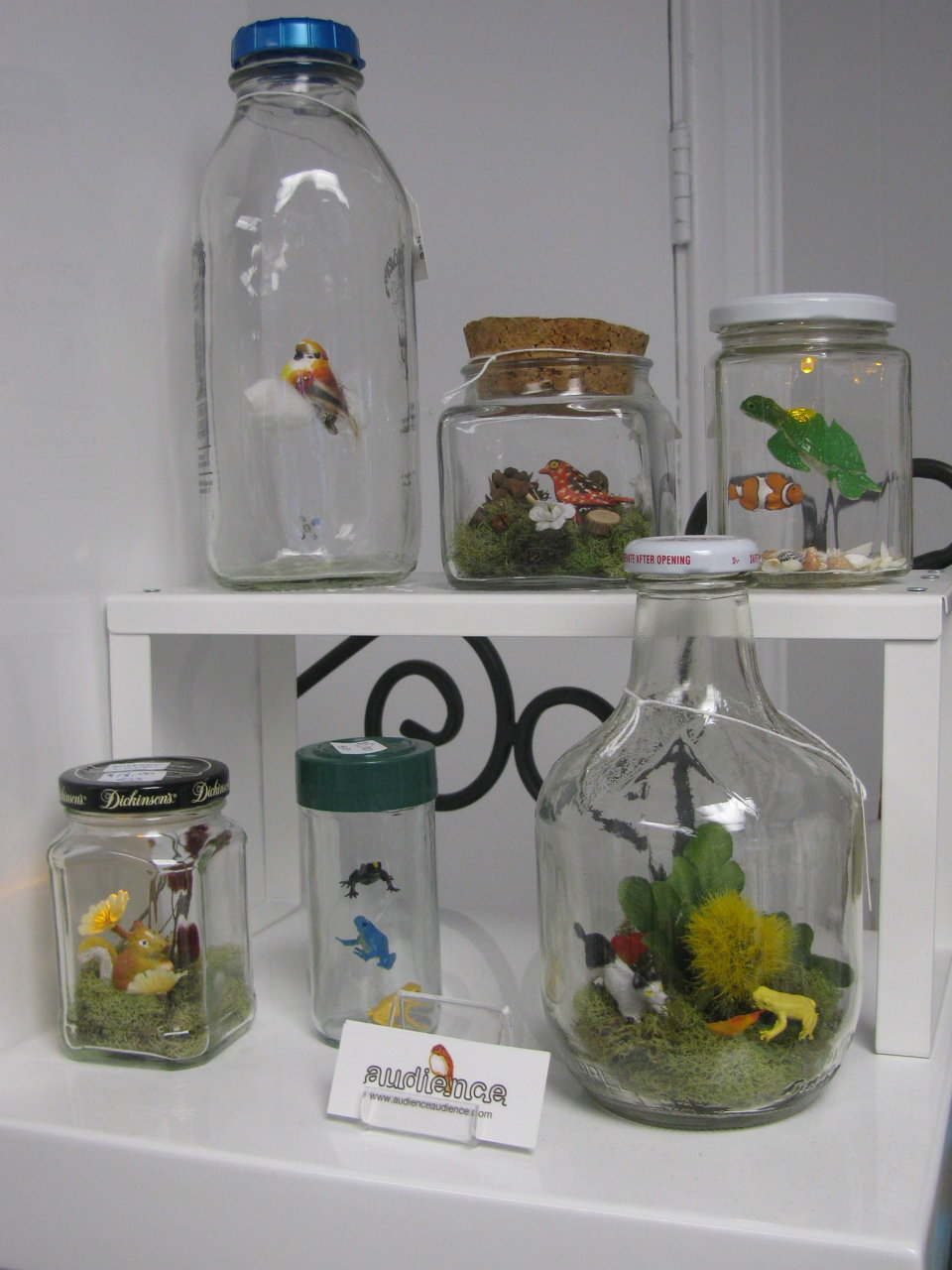 miniatures on display at a shop (SD)