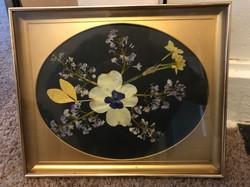 golden - pressed flower art