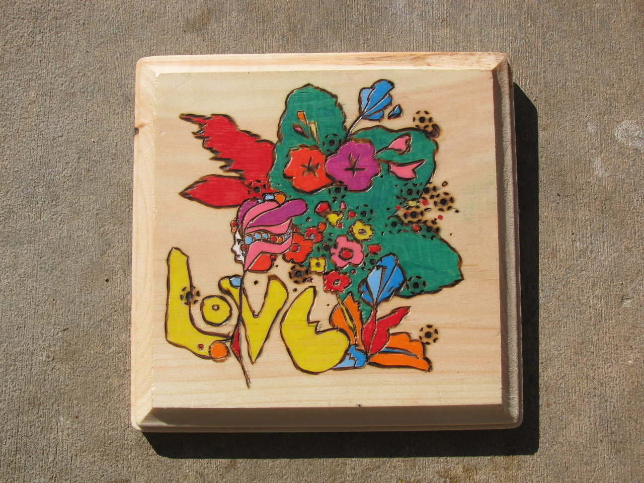 love peter max wood burning