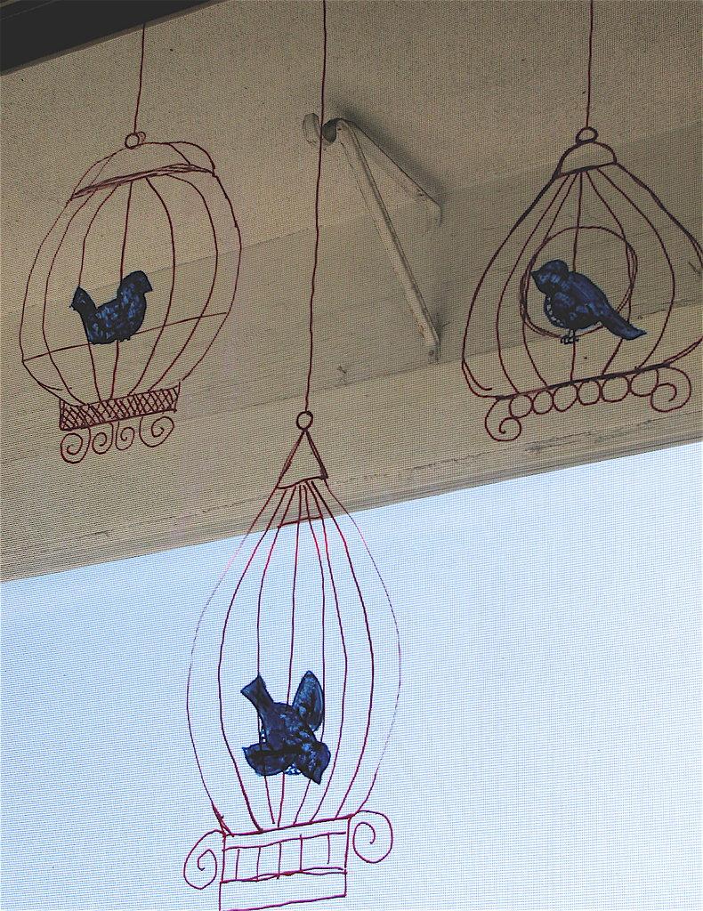 birdcage - window painting
