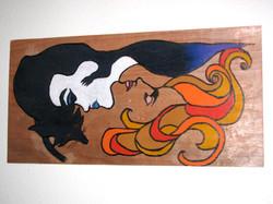 le fox femme wood burning
